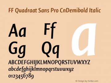 FF Quadraat Sans Pro CnDemibold