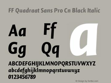 FF Quadraat Sans Pro Cn Black