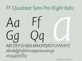 FF Quadraat Sans Pro Xlight