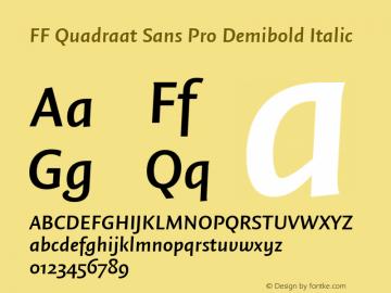 FF Quadraat Sans Pro Demibold