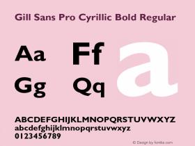 Gill Sans Pro Cyrillic Bold
