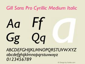 Gill Sans Pro Cyrillic Medium