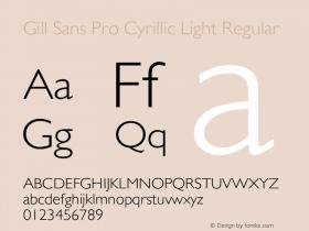 Gill Sans Pro Cyrillic Light