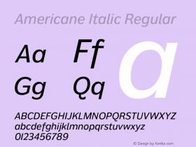 Americane Italic