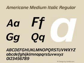 Americane Medium Italic