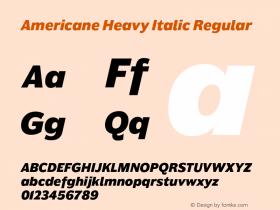 Americane Heavy Italic