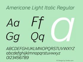 Americane Light Italic