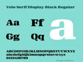 Velo Serif Display Black