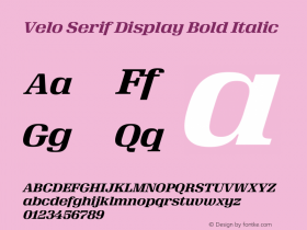 Velo Serif Display Bold