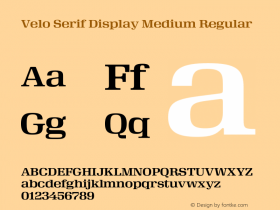 Velo Serif Display Medium