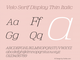 Velo Serif Display Thin