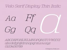Velo Serif Display
