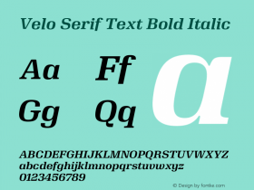 Velo Serif Text