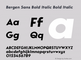 Bergen Sans Bold Italic