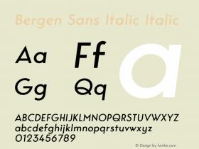 Bergen Sans Italic