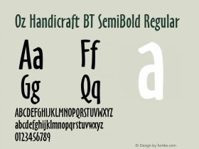 Oz Handicraft BT SemiBold