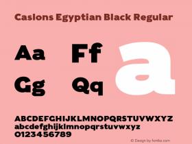 Caslons Egyptian Black