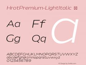 HrotPremium-LightItalic