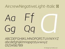 AircrewNegativeLight-Italic