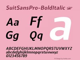 SuitSansPro-BoldItalic