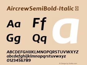 AircrewSemiBold-Italic
