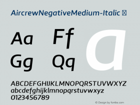 AircrewNegativeMedium-Italic