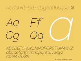 Redshift-ExtraLightOblique