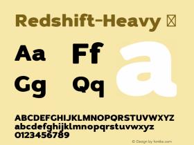 Redshift-Heavy