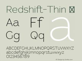 Redshift-Thin