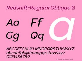 Redshift-RegularOblique