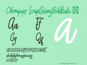 Cherripops-ScriptSkinnyBoldItalic