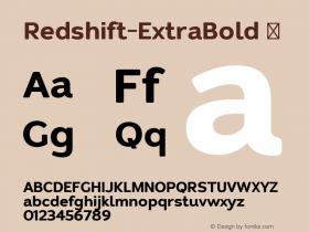 Redshift-ExtraBold