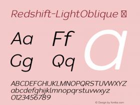 Redshift-LightOblique