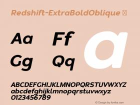 Redshift-ExtraBoldOblique