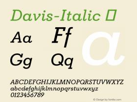 Davis-Italic