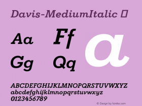 Davis-MediumItalic