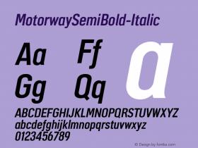 MotorwaySemiBold-Italic