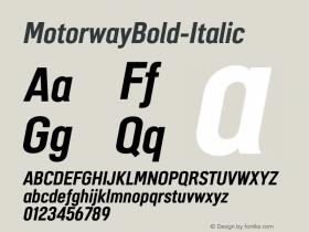 MotorwayBold-Italic