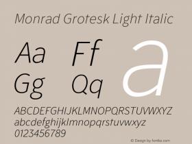 Monrad Grotesk Light