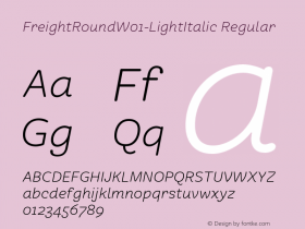 FreightRound-LightItalic