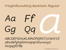FreightRound-BookItalic