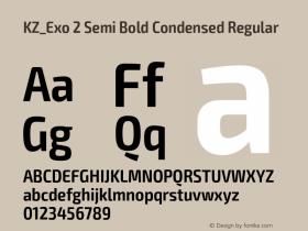 KZ_Exo 2 Semi Bold Condensed