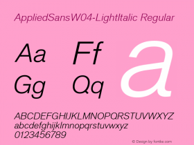 AppliedSans-LightItalic