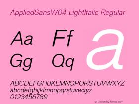 AppliedSans-LightItalic