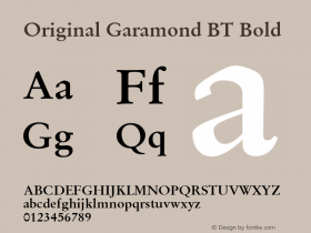Original Garamond BT