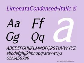 LimonataCondensed-Italic