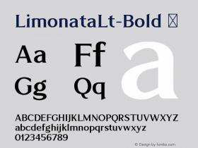 LimonataLt-Bold