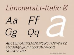 LimonataLt-Italic