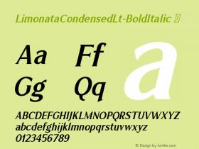 LimonataCondensedLt-BoldItalic