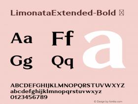 LimonataExtended-Bold